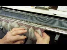 ▶ Thrumming on the Knitting Machine by Carole Wurst - YouTube