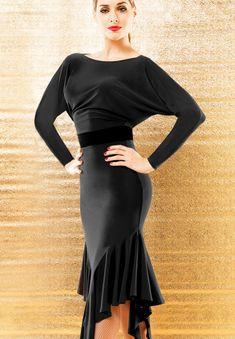 d07f396eaca New Ballroom Latin Dance Dress Tango Competition Black Practice Dress YG15