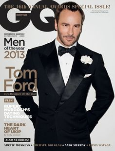 Tom Ford on the cover of British GQ, October 2013. Photo: Terry Richardson.