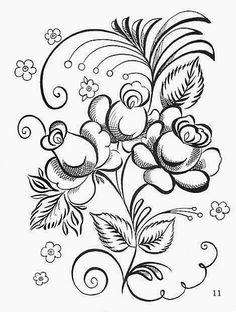Раскраска жостово росписи