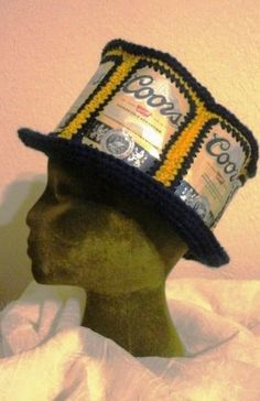 Crochet Beer Can Cowboy Hat Pattern : 1000+ images about Beer can crochet on Pinterest Beer ...