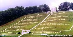 World's Largest Ten Commandments  Murphy, North Carolina    00-ft. wide, built by the Church of God of Prophecy at Fields of the Wood in 1945.