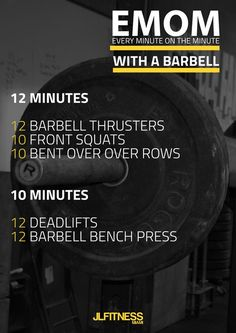 Barbell EMOM Workouts, tips and important information for people that want to get fit and leave healthy life at http://crossfit-style.com/exercises-lean-sexy-legs/