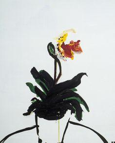 an orchid by Daniela Orlev on Artfully Walls