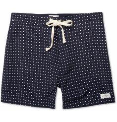 Saturdays Surf NYCPolka-Dot Twill Swim Shorts|MR PORTER