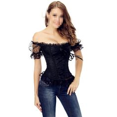 Sexy Lace Off-shoulder Corset
