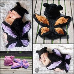 Butterfly Cuddle Critter Cape Set