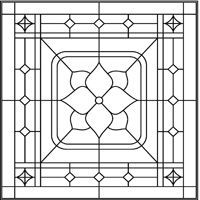Free coloring pages for adults stained glass flower for Frank lloyd wright coloring pages