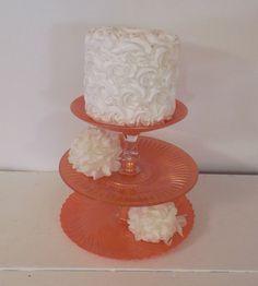 Orange 3 Tier Stand / Cupcake Stand / Cake by OrangeZebraDesigns