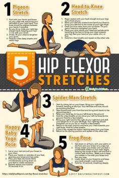 Hip flexor Exercises For Seniors - Hip flexor Stretch For Dancers - - Hip flexor Anatomy - Hip flexor Videos Workout Pilates Workout Routine, Hip Workout, Yoga Routines, Workout Regimen, Dumbbell Workout, Hip Flexor Exercises, Lower Back Exercises, Yoga Exercises, Fitness Exercises