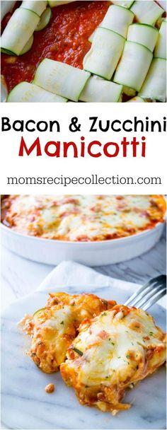 Low Carb Zucchini & Bacon Manicotti | Mom's Recipe Collection