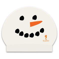 Snowman swim cap