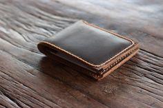 Men's Leather Wallet Minimalist Bifold Ultra Slim by JooJoobs