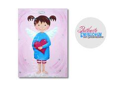 Deko und Accessoires für Weihnachten: Postkarte Engelchen SONDERDRUCK made by Wichtelfabrik via DaWanda.com