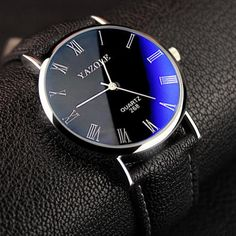 SUPER LIGHTNING DEAL PRICE! ENDS IN NEXT 12 HRS! - Minimalist classic Slim design makes it fashionable and simply to wear in daily life, it is a great gift watch to for family or friends. - Battery included in the watch. Stainless steel back case. Adopts advanced quartz movement to provide precise movement and keep good time. - Water resistant to 30 m (99ft): sweating, hand wash, rain day, withstands splashes or brief immersion in water. Not Suitable For Swimming and Shower.Durable…