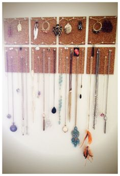 Cork Board Jewelry Holder :D