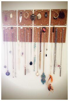 Cork Board Jewelry Holder :D