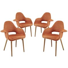 Modway Taupe Dining Armchair Set of 4