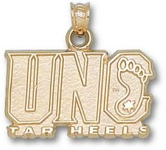 """North Carolina Tar Heels """"UNC Tar Heel"""" Pendant - 14KT Gold Jewelry"": You often see shirts, caps and… #Sport #Football #Rugby #IceHockey"
