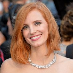 Cannes Film Festival 2016: Jessica Chastain, a Piaget brand ambassador, stood out in a bold Piaget diamond necklace set in white gold.