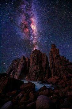 Via Lactea en Isla Victoria, Australia