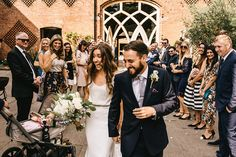 Shustoke Farm Barn Wedding | Bride in Martina Liana Bridal Gown from Coco and Kate | Groom in Reiss Bespoke Tailoring Suit | Alex Tenters Photography