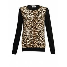 Equipment Roland Crew Neck Knit - Natural #equipment #crewneck #knit #leopard #print #wool #silk #aw13