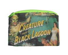 Creature from the Black Lagoon - Vintage Horror - Zipper Pouch by oliviafrankenstein on Etsy https://www.etsy.com/listing/257013060/creature-from-the-black-lagoon-vintage