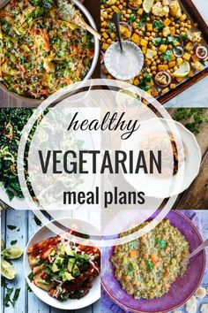Healthy Vegetarian Meal Plan - Week 88 - She Likes Food Happy St. Patrick's Day! Enjoy the recipes we have for you this week and have a wonderful weekend! Sunday Spinach and Pinto Bean Enchiladas from E. Healthy Vegetarian Meal Plan, Vegan Meal Plans, Healthy Family Meals, Vegetarian Dinners, Good Healthy Recipes, Healthy Breakfast Recipes, Healthy Cooking, Vegetarian Recipes, Healthy Eating