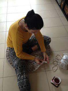 Bergamotka: Szydełkowy dywan