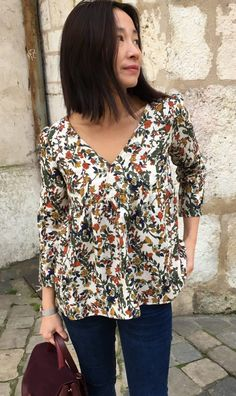 Blouse Eugenie – Flowers – My Dress Made