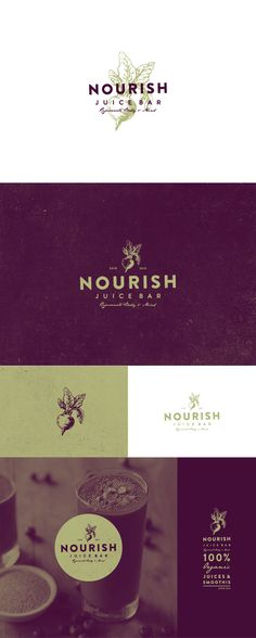 logo design for NOURISH juice bar