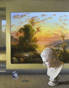 Antonio NUNZIANTE - Official Homepage Pop Surrealism, Melancholy, Optical Illusions, Collage, Canvas, Painters, Pretty, Figurative, Art