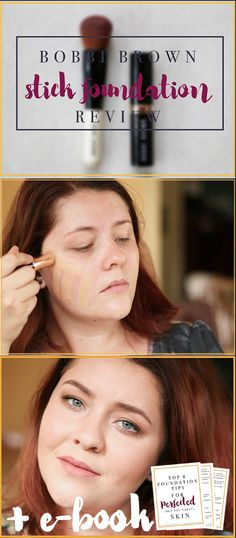 Bobbi Brown Stick Foundation Review. In this post - I'll teach you to to use a stick foundation and why I love THIS product so much. I also give you a free foundation tips e-book!! If you want a natural, perfected base of foundation that is not cakey but covers what you need it to - you need to read this post. <3 Click here to read about it! Bobbi Brown Skin Foundation, Foundation Tips, Natural Makeup Looks, Natural Looks, Beauty Hacks, Beauty Tips, Everyday Makeup, Party Makeup, Makeup Yourself