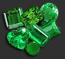 """Emerald is the name given the green variety of beryl and ranges between 7.5 and 8 on the Mohs scale. The name Emerald is derived from the French """"esmeraude"""" and the Greek root """"smaragdos"""" which means 'green gemstone'. Top quality emeralds are a deep grass green with a slightly bluish cast, but many lesser quality stones are lighter shades of green and can have a more yellowish tone. Emeralds are found in many countries, but Columbia and Brazil are the major producers and Columbia is…"""