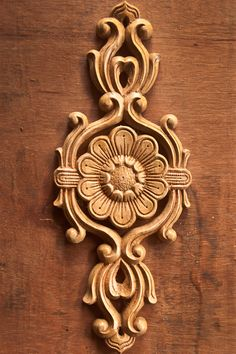 Bloomed Lotus Wood Carving Art Wood Carving Designs, Wood Carving Patterns, Wood Carving Art, Wood Art, Wooden Door Design, Main Door Design, Wood Design, Wood Rosettes, Cement Art
