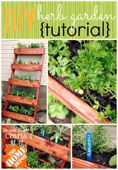 DIY Herb Garden with The Home Depot {tutorial} #digin #ad