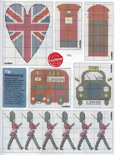 London x-stitch fair isle pattern Counted Cross Stitch Patterns, Cross Stitch Charts, Cross Stitch Designs, Cross Stitch Embroidery, Embroidery Patterns, Knitting Charts, Christmas Cross, Patch, Cross Stitching