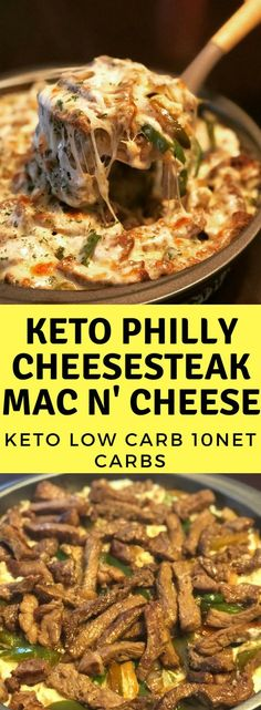 You must cook this Keto Philly Cheesesteak Mac n' Cheese . B'coz it's ultra Mouthwatering. ~ Just click through to read more ~ Keto Dinner Recipes Keto Foods, Healthy Diet Recipes, Ketogenic Recipes, Low Carb Recipes, Healthy Eating, Ketogenic Diet, Ketogenic Breakfast, Steak Recipes, Keto Steak Recipe
