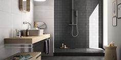 Arkim Serie Creative Concrete | black & white tiles | bathroom