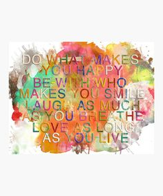 Colorful 'Do What Makes You Happy' Canvas Wall Art #zulily #zulilyfinds