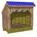 firewood shed plans - Google Search