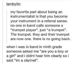band geek Well yah if youre in band you just say the flutes always get the melody referring to both the people and the instruments. And hen you have percussion which I play and I cane up with a great explanation for. Hit hit make sound sound My Tumblr, Tumblr Funny, Band Tumblr, Retro Humor, Humor Musical, Music Jokes, Funny Music, Flute Jokes, Marching Band Memes