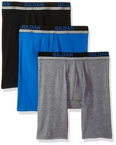 FRUIT OF THE LOOM Youth Boys Tag Free BOXER SHORTS NEW NWT 2XL 22 24 Blue Grey