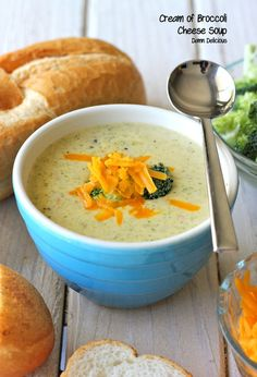 How about Cream of Broccoli #Cheese Soup from damndelicious.tumblr.com for #dinnertonight? #recipe #butter #milk