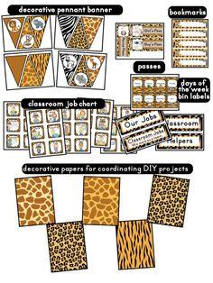 Clutter-Free Classroom: Jungle Safari Classroom Theme