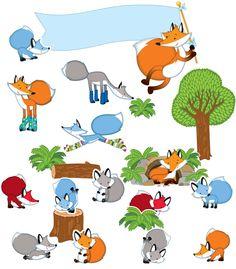 Playful Foxes Bulletin Board Set