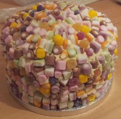 #DollyMixture Cake for guess the number of sweets on the cake competition.