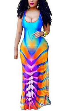 NEW TinyWalnut Women's Sexy Print Bodycon Maxi Dress Plus Size for Evening Party Bandage Club