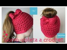 GORRO COLETA A CROCHET | DIESTRA  | CHIC DIY - YouTube